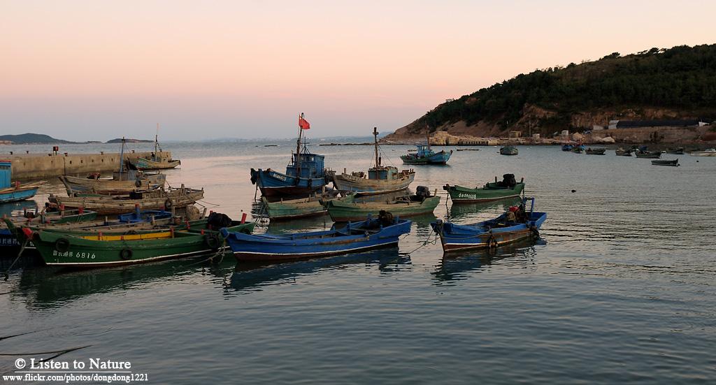 大黑山岛的渔港